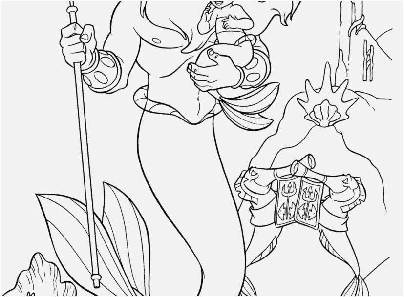 827x609 Coloring Pages Ariel Images King Triton And Little Ariel Coloring