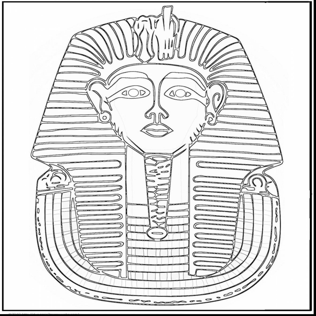 1024x1024 Awesome Ancient Egypt King Tut Coloring Page With Egypt Coloring