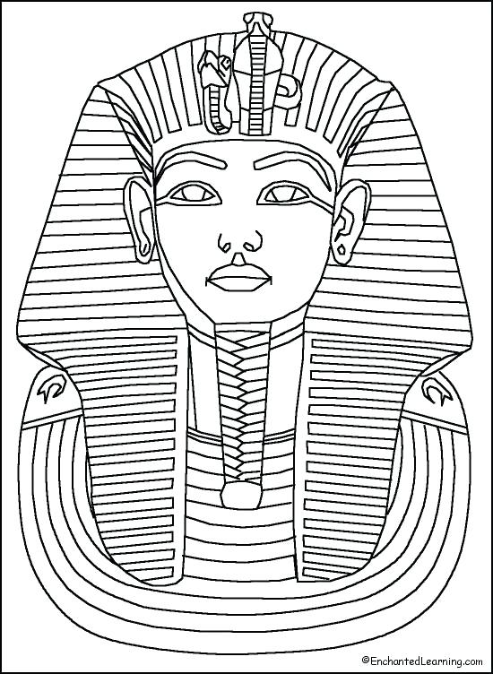 550x752 Colorear King Tut King Tut Gold Sarcophagus Of Ancient Coloring