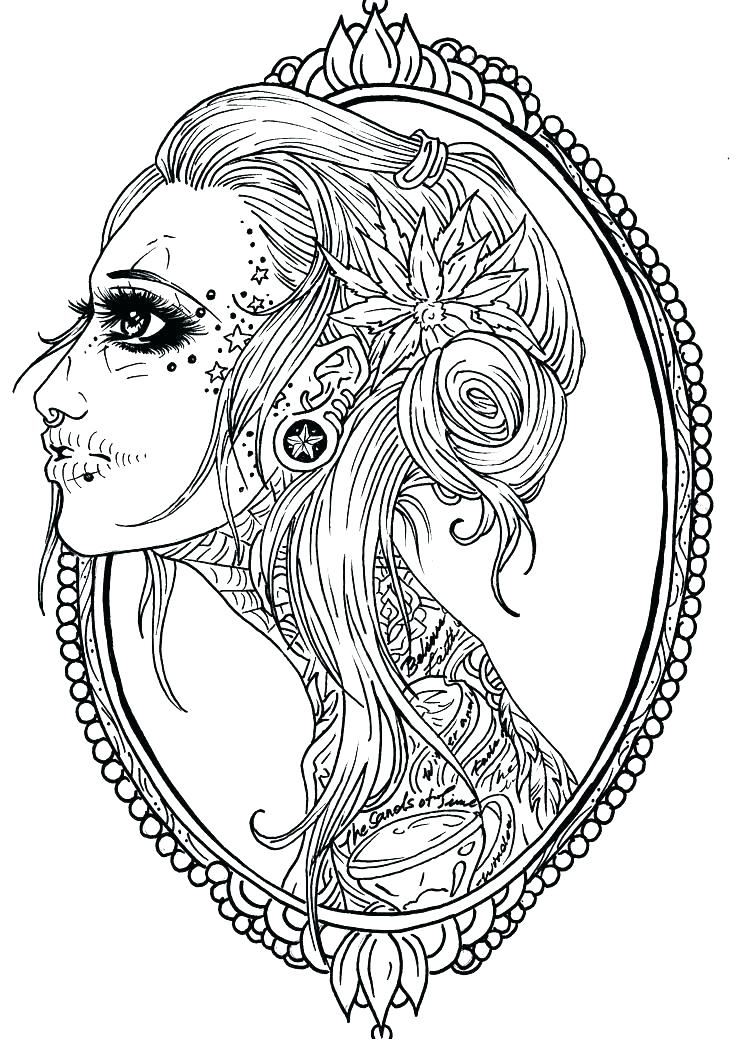 736x1039 Female Coloring Pages Full Size Of Up Girl Coloring Book