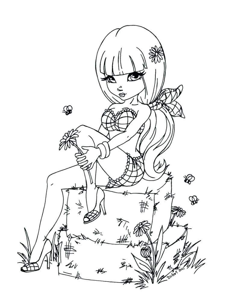 750x1006 Pin Up Girl Coloring Pages Medium Size Of Together With Kinky