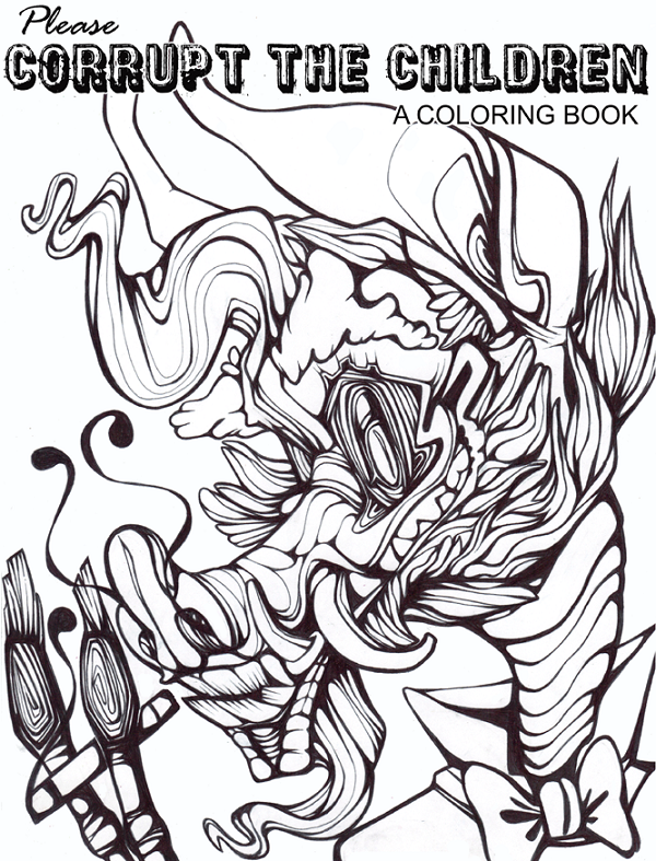 600x787 Coloring Book Cover