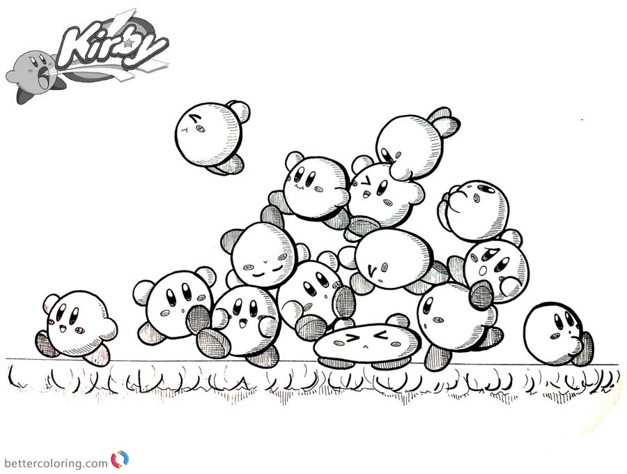 900x680 Kirby Coloring Pages Inktober Kirby Mass Attack