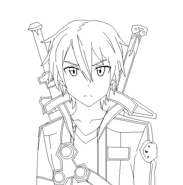 Kirito Coloring Pages