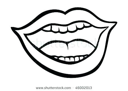 450x320 Coloring Pages For Kids Online Lips Page High Quality Kissing Fish