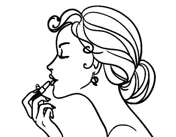 600x470 Make Up The Lips Coloring Page Free Coloring Kissing Lips Coloring