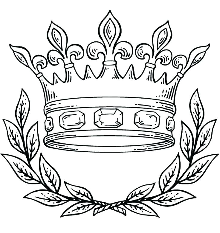 736x782 Queen Crown Coloring Pages Fish Wearing A Crown With Kissing Lips