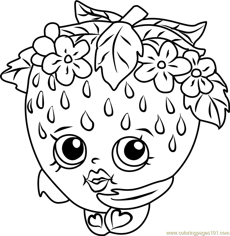779x800 Strawberry Kiss Coloring Page