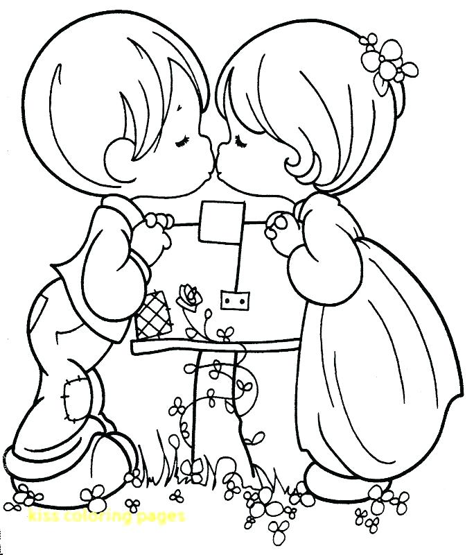684x800 Kiss Coloring Pages