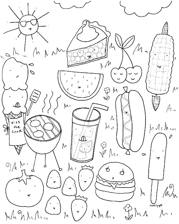 The best free Cooking coloring page images. Download from ...