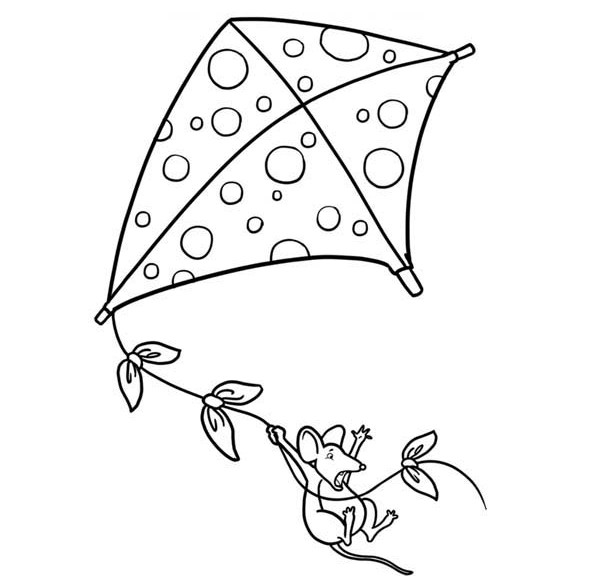 600x576 Interesting Design Ideas Kite Coloring Pages Preschool Printable