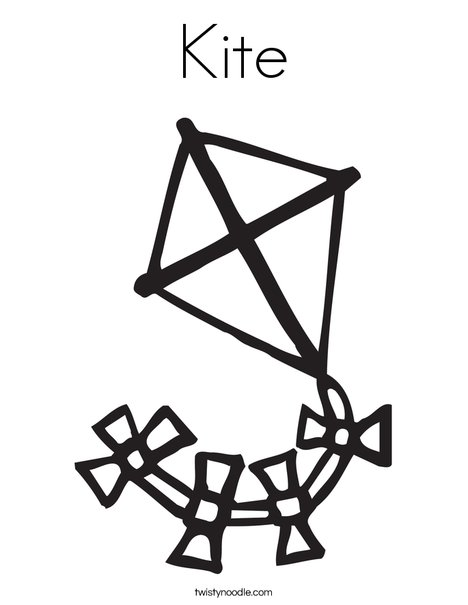 468x605 Kite Coloring Page