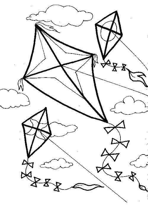 500x690 Kite Coloring Page Kite Coloring Images Beautiful Kite Coloring