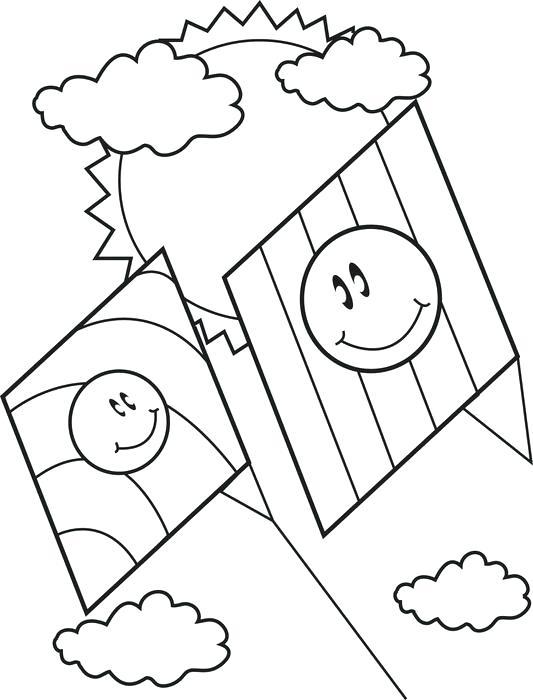 533x700 Kite Coloring Page Spring Kites Coloring Page Chinese Kite