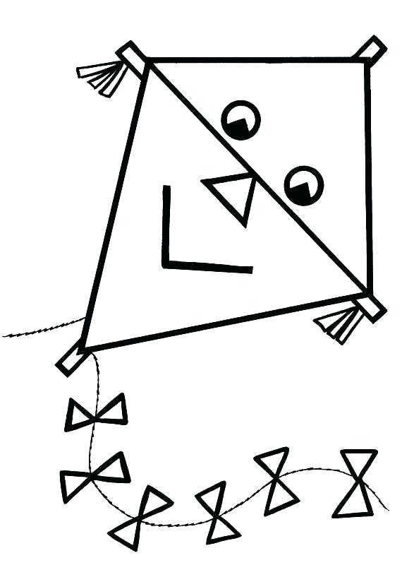 570x800 Kite Coloring Pages Printable