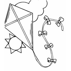 300x300 Kite In The Sky Coloring Page