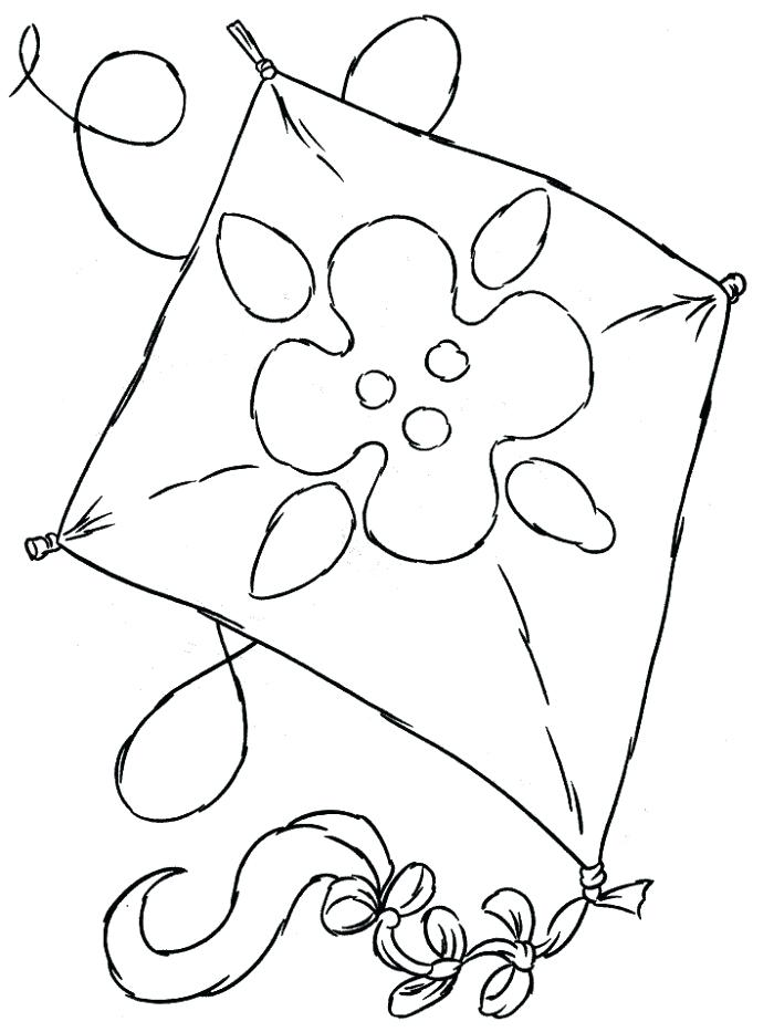 700x933 Kite Pictures To Color Kite Color Pages Kite Coloring Pictures
