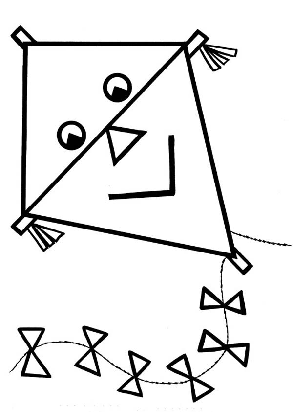 600x842 Kite Coloring Page Kite Coloring Pages For Kids Coloringstar Kite