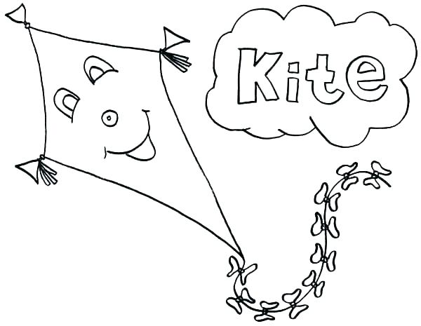 600x465 Kites Coloring Pages Coloring Pages Of Kites Kites Coloring Pages