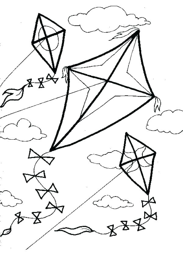 The Best Free Kite Coloring Page Images Download From 50 Free