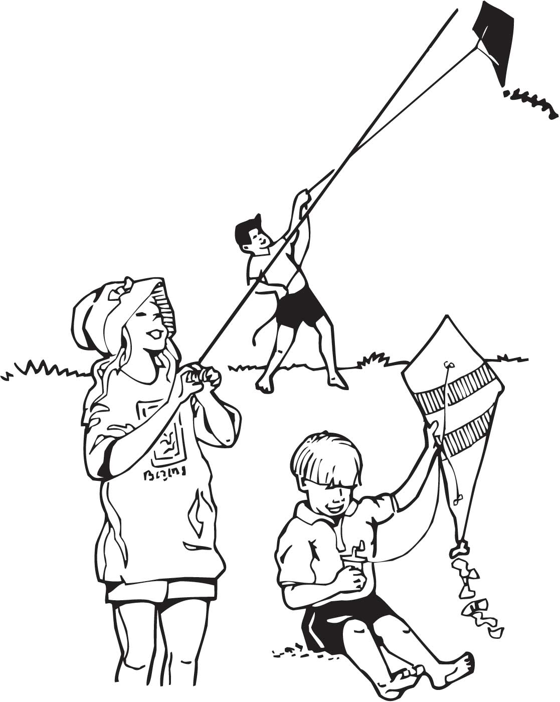 1117x1400 Coloring Pages Of Child Flying Kites Trends For Gt Flying Kite