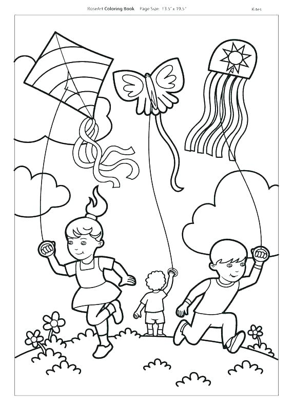 571x800 K For Kite Coloring Pages