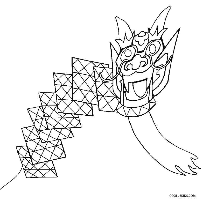 783x777 Chinese Kites Coloring Pages Coloring Carp Kite Coloring Page