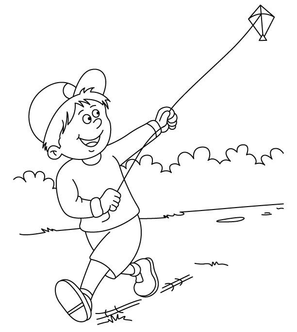 612x683 Pictures Of Children Flying Kites Flying Kite Coloring