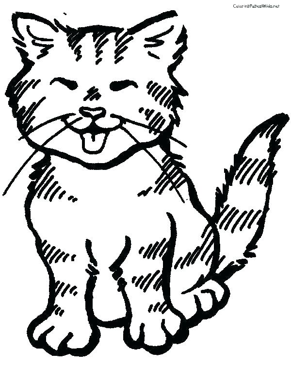 600x756 Kitten Color Pages Kitten Coloring Pages For Adults Kitten