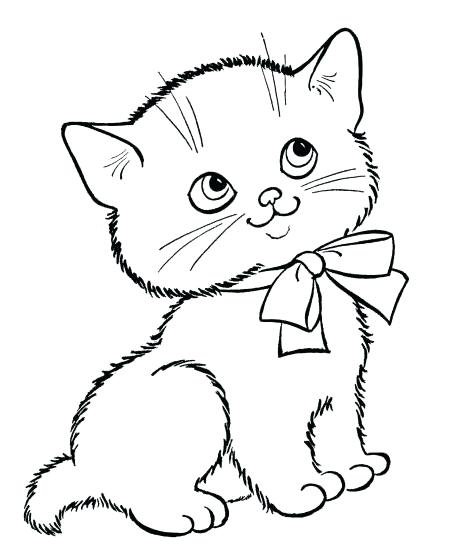 449x547 Kitten Coloring Pages To Print Cute Little Kitten Kitten Coloring