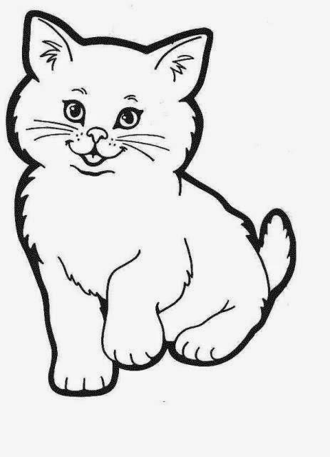 463x640 Planse De Colorat Si Fise Pentru Copii Pisica