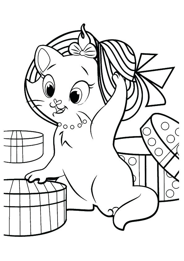 595x842 Printable Kitten Coloring Pages Printable Kitten Coloring Pages