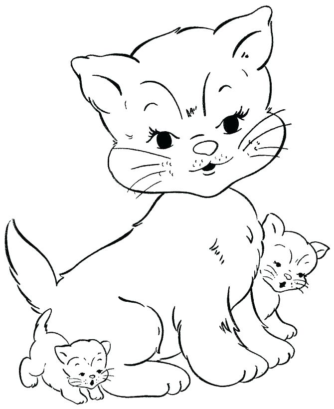 670x820 Printable Puppy And Kitten Coloring Pages Kids Coloring Cat