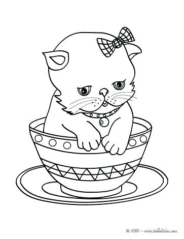 363x470 Cute Kitten Coloring Pages