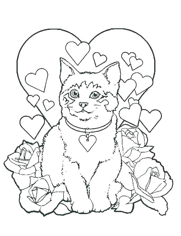 615x800 Printable Kitten Coloring Pages