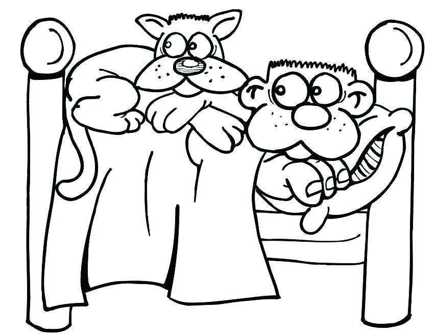 854x660 Printable Kitten Coloring Pages