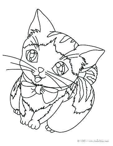 364x470 Free Kitten Coloring Pages Kitten Coloring Pages For Kids Free