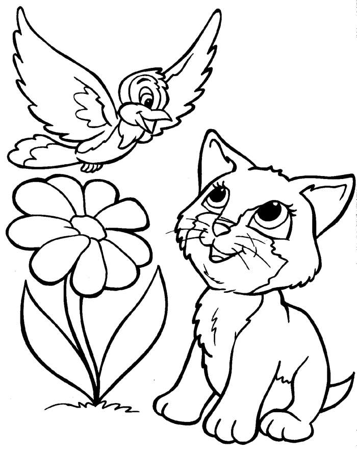 Kitten Coloring Pages To Print Out At Getdrawings Free Download