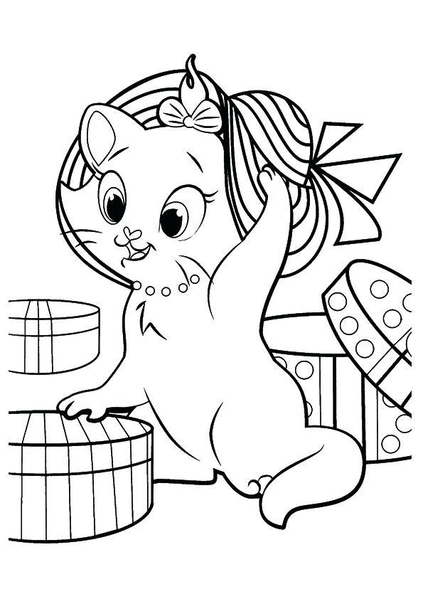 595x842 Kitten Coloring Pages Kitten Coloring Pages Printable