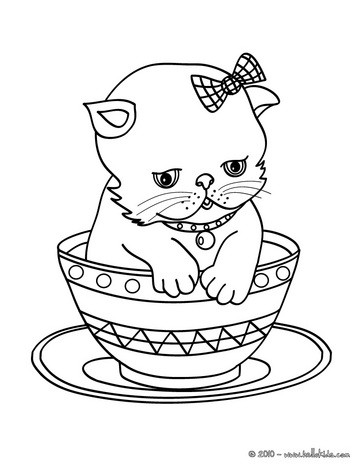363x470 Kitten In Cup Coloring Pages