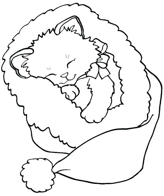 540x644 Printable Kitten Coloring Pages Kitten With Yarn Coloring Page