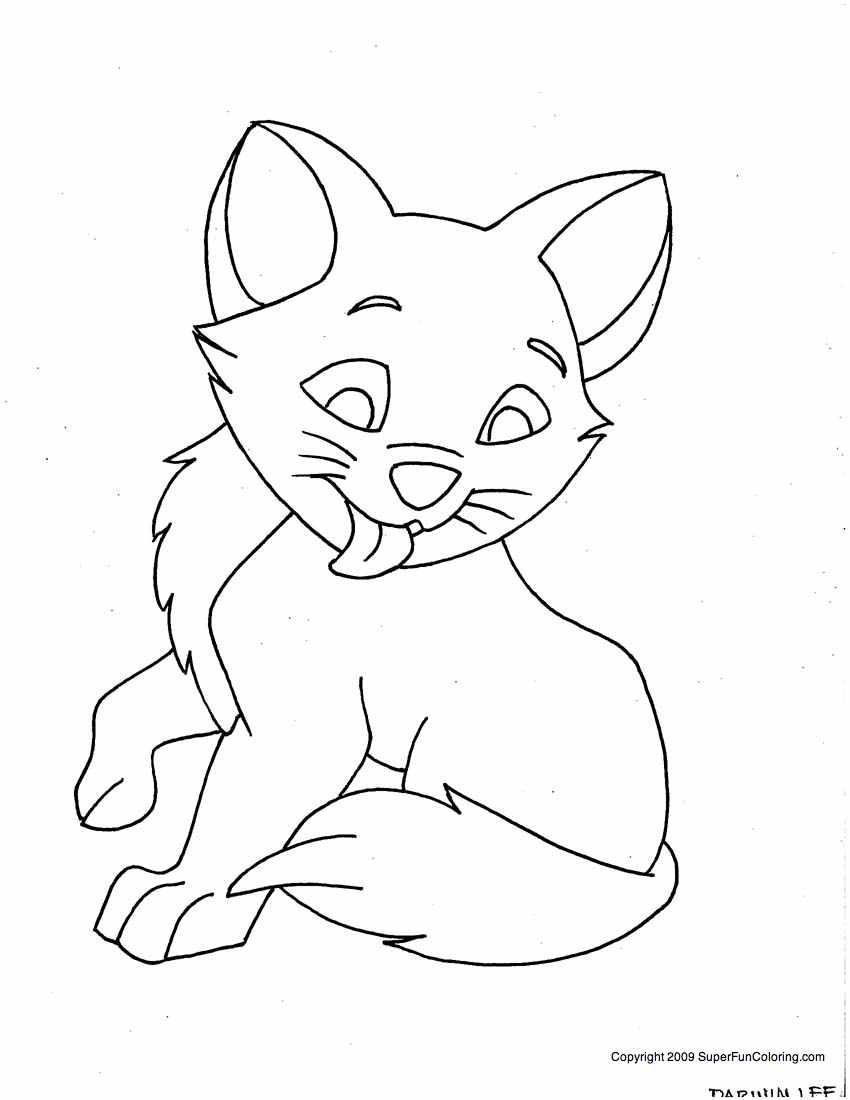 850x1100 Cute Kitten Coloring Pages