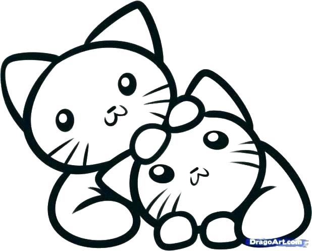 618x497 Cute Kitten Coloring Pages Kittens Coloring Pages Printable