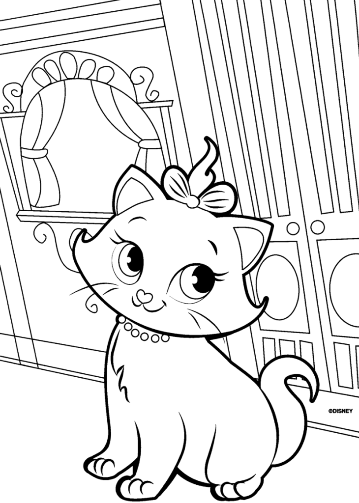 730x1024 Cute Kitty Cat Coloring Pages Collections