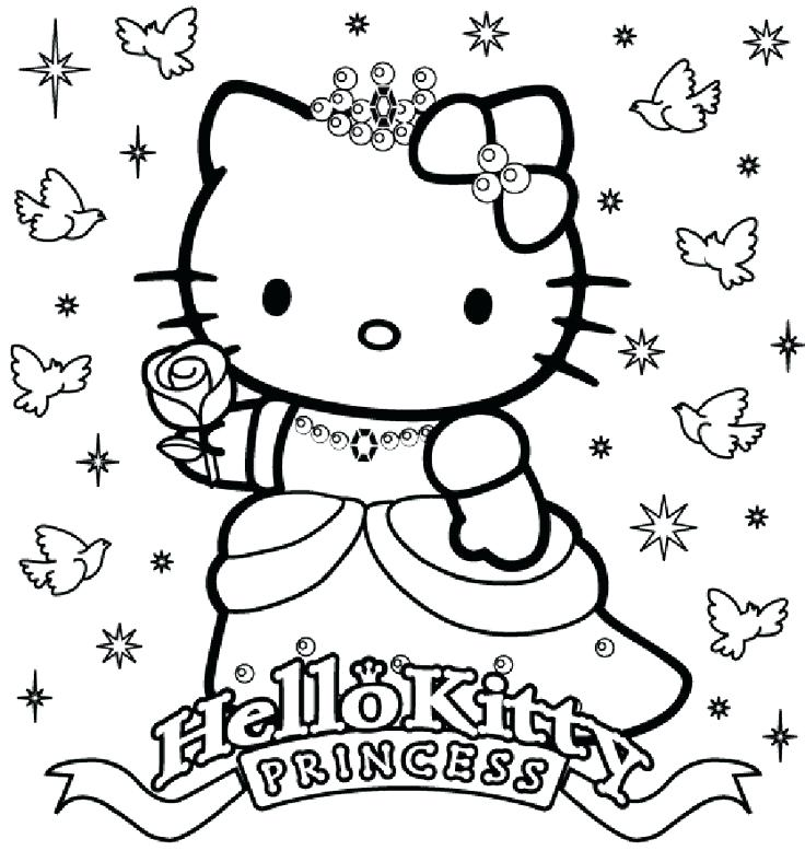 736x788 Hello Kitty Coloring Pages Free Printable Hello Kitty Popular