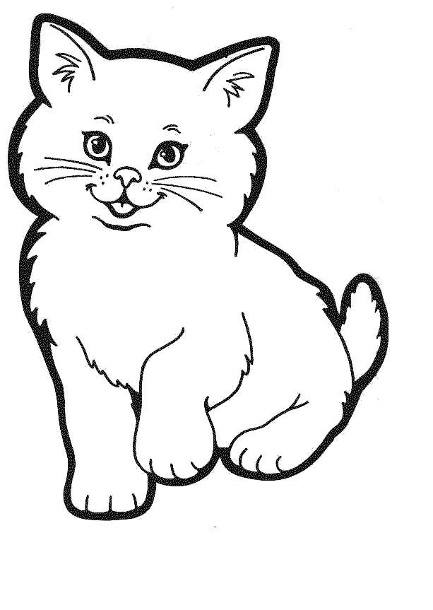 613x863 Kitty Cat Coloring Pages