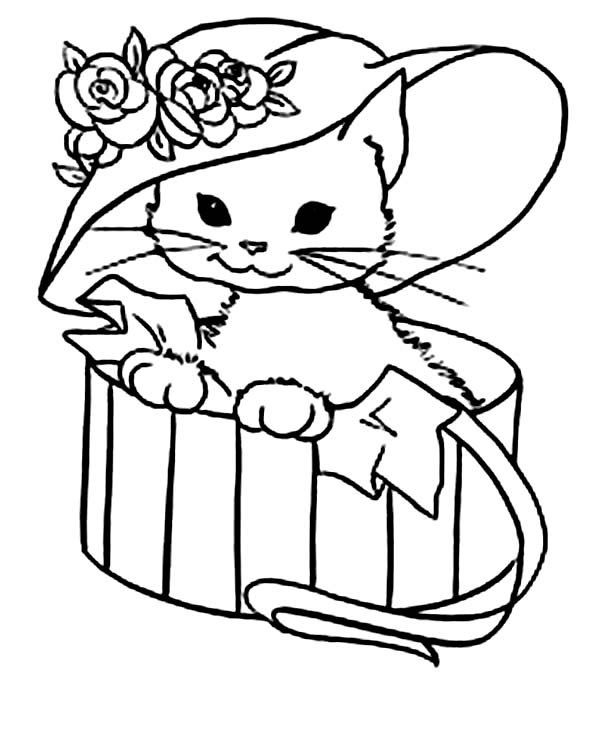 600x733 Kitty Cat Coloring Pages Elegant Kitten Coloring Pages Free Logo