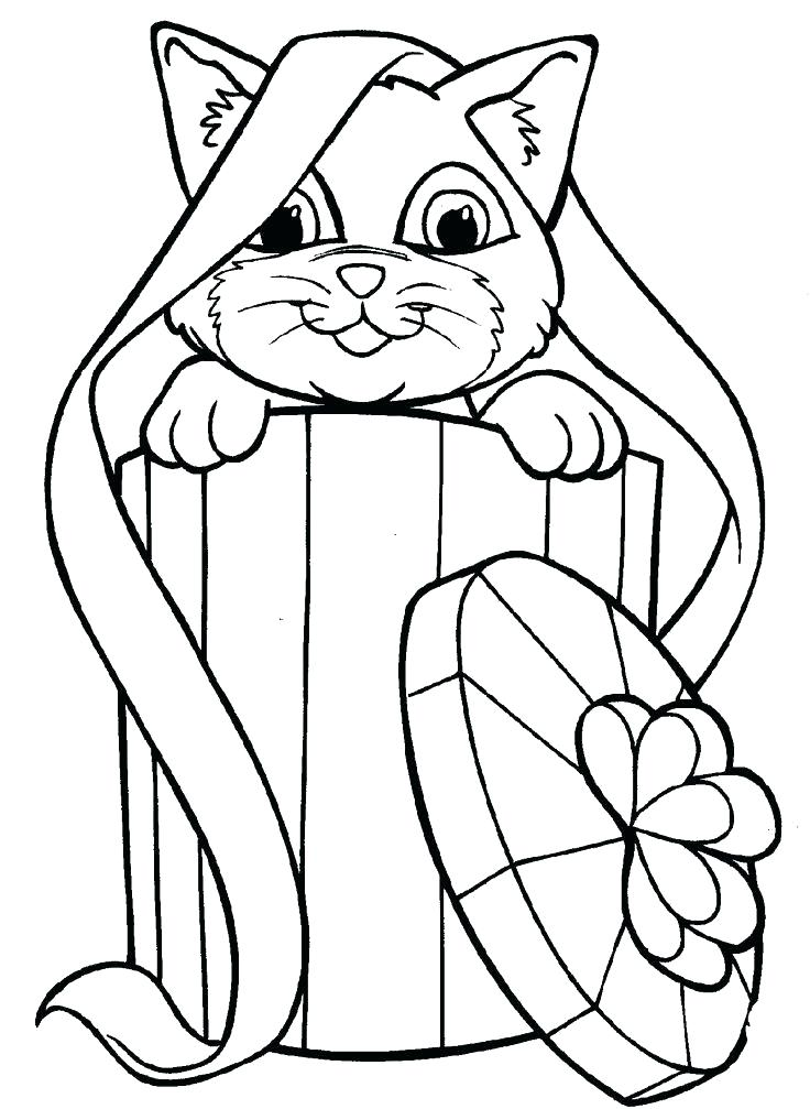 736x1007 Kitty Cat Coloring Pages Or Cat Coloring Pages Gallery