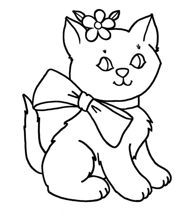 600x734 Cat Pictures To Color Trend Kitty Cat Coloring Pages