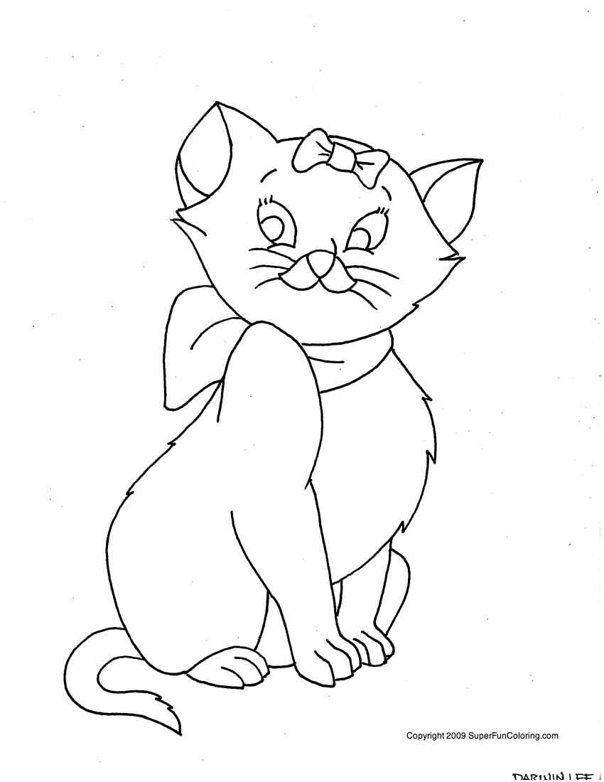 Kitty Cat Printable Coloring Pages